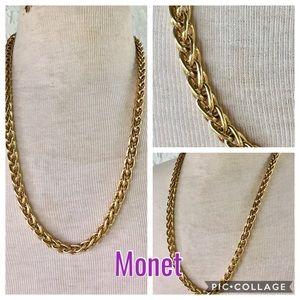 Monet Vintage Gold Chain thick wheat chain